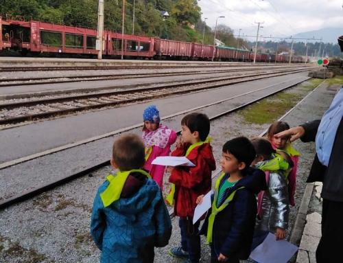 Izlet z vlakom v Ljubljano in ogled Železniškega muzeja
