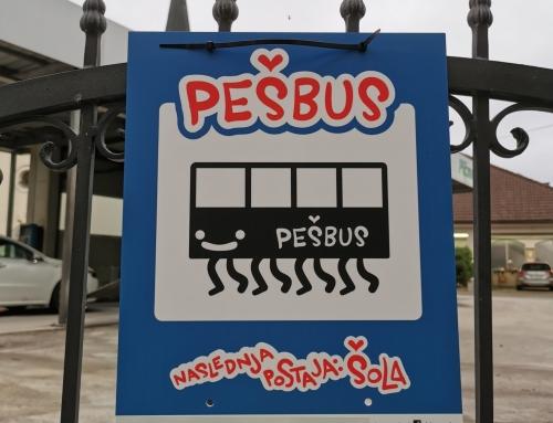 Gremo peš v šolo – s Pešbusom