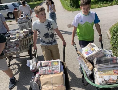 V dveh akcijah zbrali več kot deset ton papirja