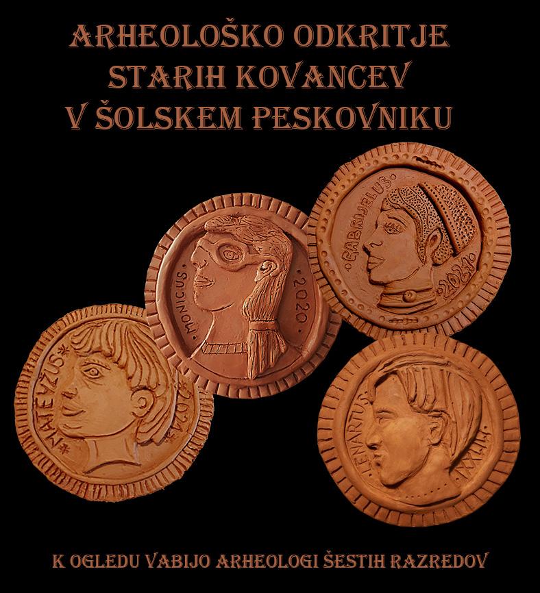 Arheološko odkritje starih kovancev v šolskem peskovniku
