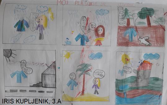 Učenci 3.a so se preizkusili v risanju stripa