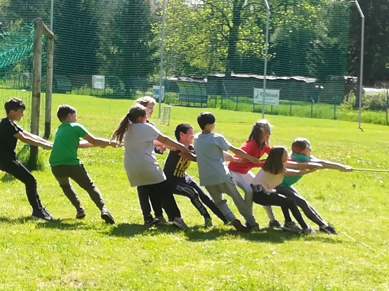 Športni dan v petem razredu