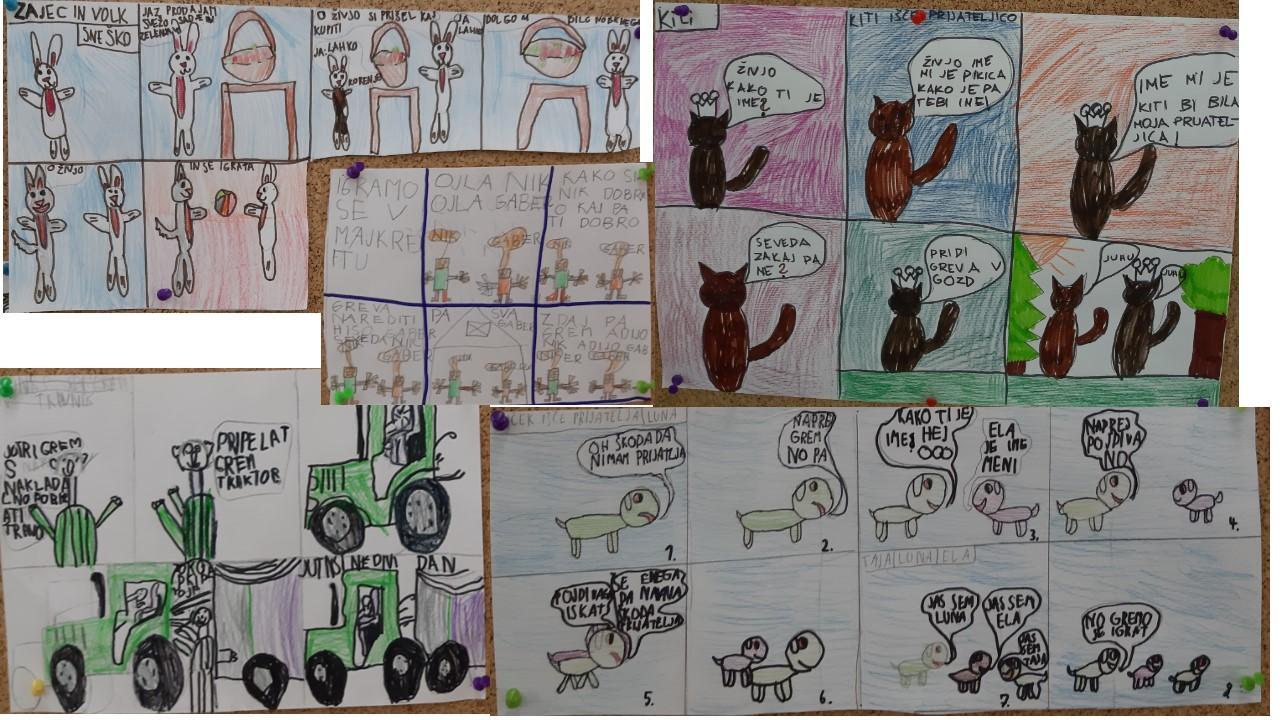 Ustvarjanje stripa v 2. razredu